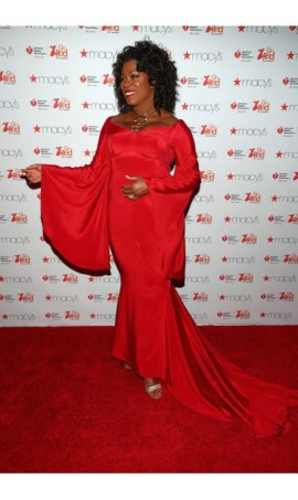 Lorraine Toussaint the American Heart Association's Go Red For Women Red Mermaid Red Carpet Celebrity Dress