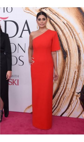 Rachel Roy 2016 CFDA Fashion Awards Red One Sleeve Red Carpet Celebrity Dress
