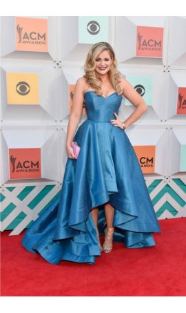 Lauren Alaina 51st Academy of Country Music Awards Blue High Low Red Carpet Celebrity Dress