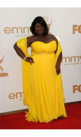 Retta 63rd Annual Primetime Emmy Awards Yellow Plus Size Red Carpet Celebrity Dress Online