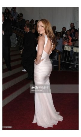 Jennifer Lopez AngloMania Costume Institute Gala 2006 White One Shoulder Open Back MermaidRed Carpet Celebrity Dress